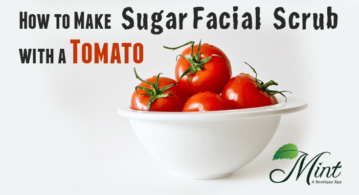 How-to-make-sugar-facial-scrub-with-a-tomato